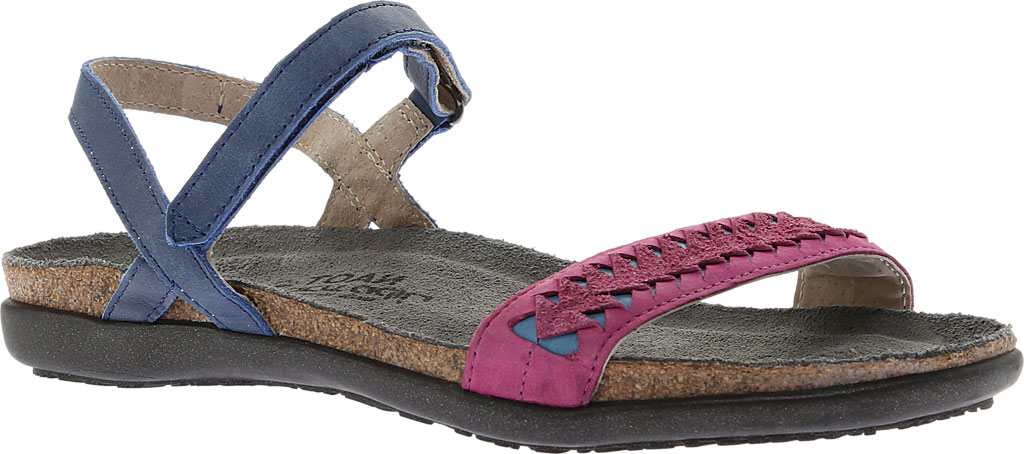 Women's Naot Mable Slingback, Oily Blue/Pink Plum Nubuck/Vintage Blue Leather, large, image 1