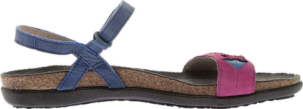 Women's Naot Mable Slingback, Oily Blue/Pink Plum Nubuck/Vintage Blue Leather, large, image 2