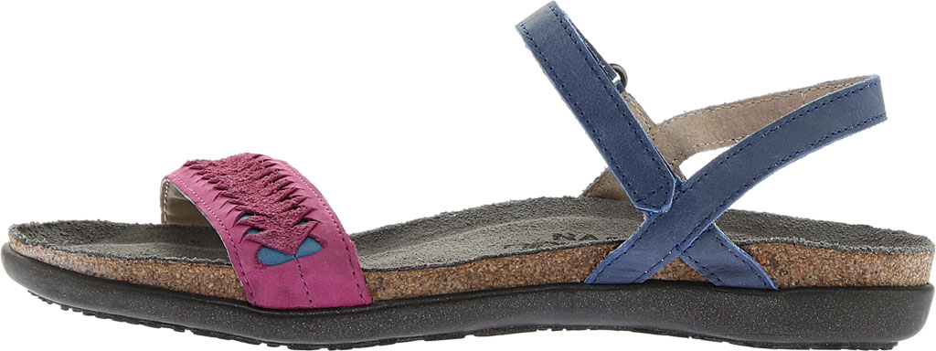 Women's Naot Mable Slingback, Oily Blue/Pink Plum Nubuck/Vintage Blue Leather, large, image 3
