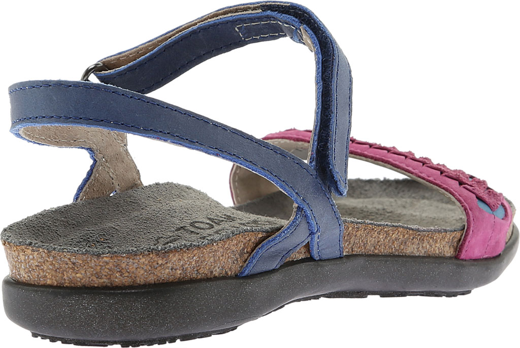 Women's Naot Mable Slingback, Oily Blue/Pink Plum Nubuck/Vintage Blue Leather, large, image 4