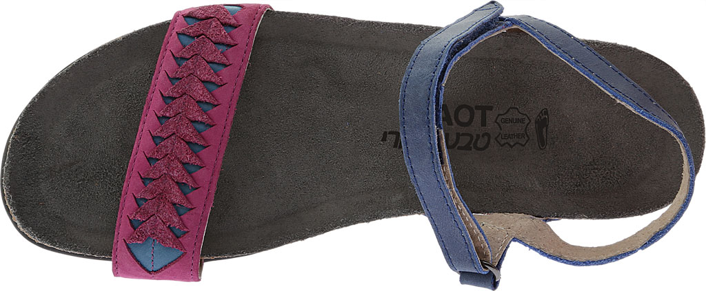 Women's Naot Mable Slingback, Oily Blue/Pink Plum Nubuck/Vintage Blue Leather, large, image 5