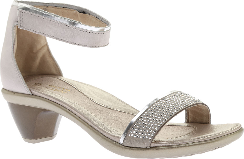 Women's Naot Progress Ankle Strap Sandal, Quartz Leather/Silver Luster Leather/Black, large, image 1
