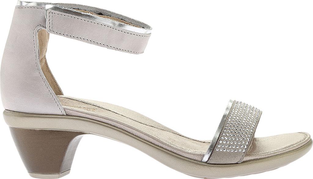Women's Naot Progress Ankle Strap Sandal, Quartz Leather/Silver Luster Leather/Black, large, image 2