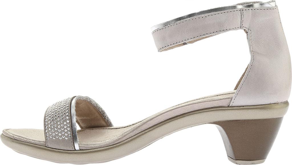 Women's Naot Progress Ankle Strap Sandal, Quartz Leather/Silver Luster Leather/Black, large, image 3