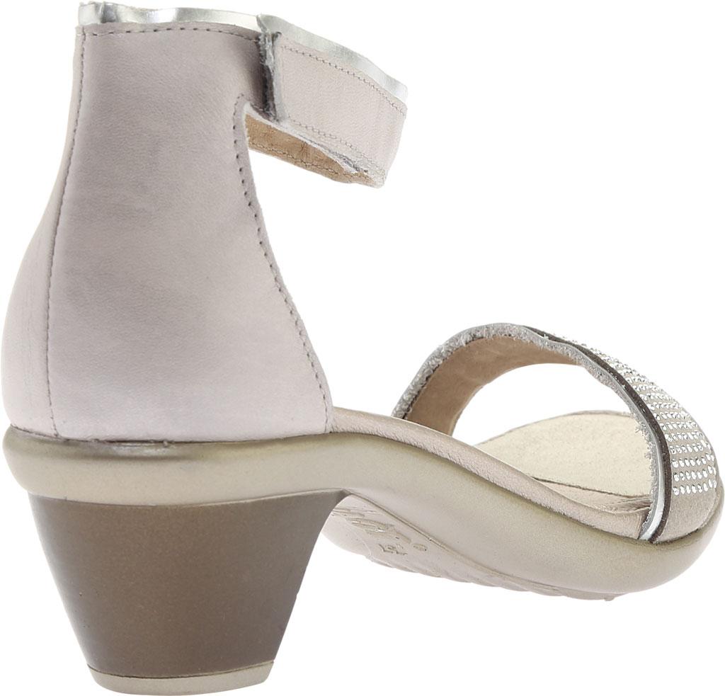 Women's Naot Progress Ankle Strap Sandal, Quartz Leather/Silver Luster Leather/Black, large, image 4