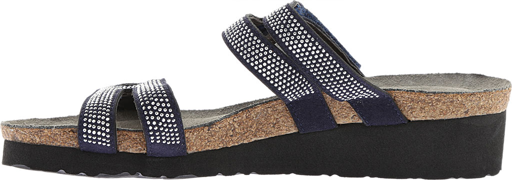 Women's Naot Ainsley Slide, Polar Sea Leather/Dark Blue with Nickel Rivets, large, image 3