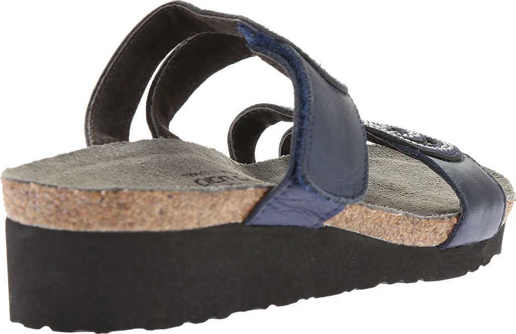 Women's Naot Ainsley Slide, Polar Sea Leather/Dark Blue with Nickel Rivets, large, image 4
