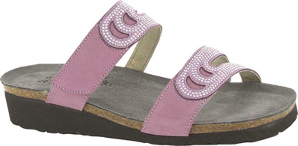 Women's Naot Ainsley Slide, Lilac Nubuck Leather With Light Purple Microfiber, large, image 1