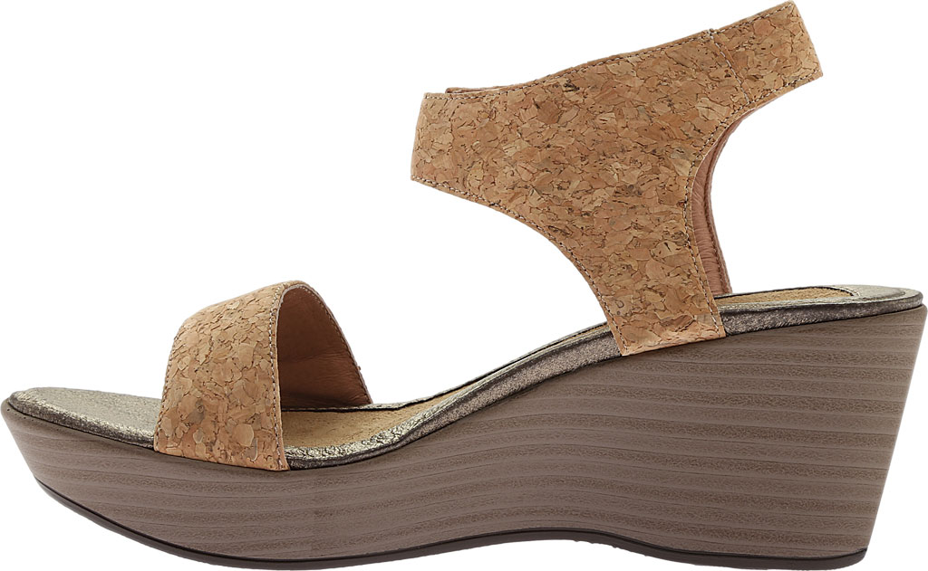 Women's Naot Caprice Wedge Sandal, Cork Leather, large, image 3