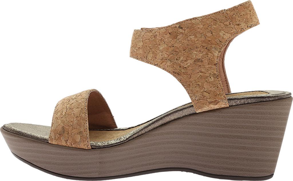 Women's Naot Caprice Wedge Sandal, Cork Leather, large, image 3