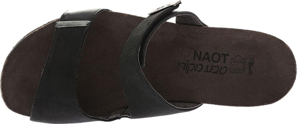Women's Naot Jacey Slide, Black Velvet Nubuck/Black Raven/Sterling Leather, large, image 5