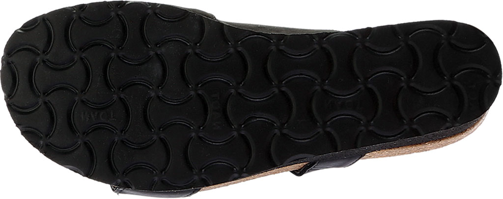 Women's Naot Jacey Slide, Black Velvet Nubuck/Black Raven/Sterling Leather, large, image 6