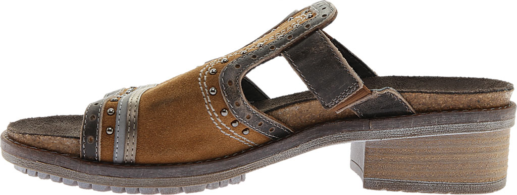 Women's Naot Nifty Slide, Desert Suede/Vintage Gray/Pewter Leather, large, image 3