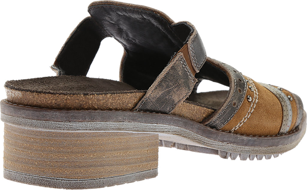 Women's Naot Nifty Slide, Desert Suede/Vintage Gray/Pewter Leather, large, image 4