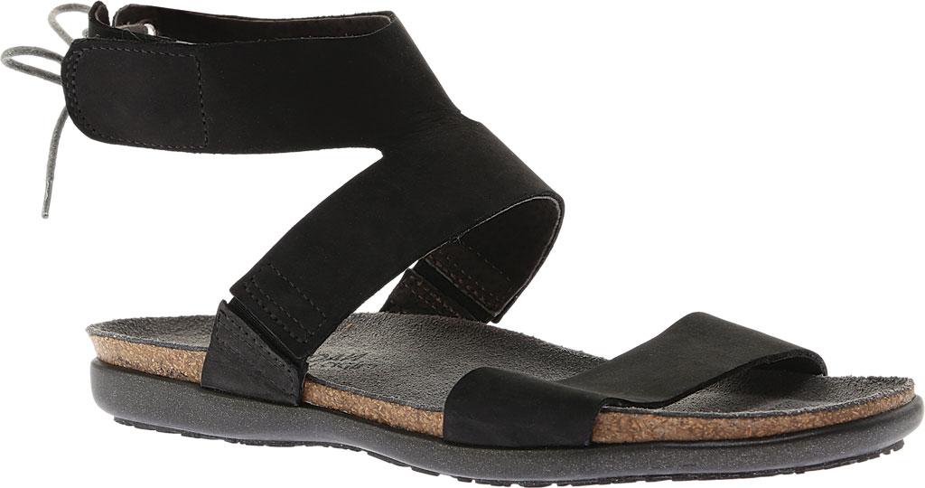 Women's Naot Larissa Ankle Strap Sandal, Black Velvet Nubuck, large, image 1
