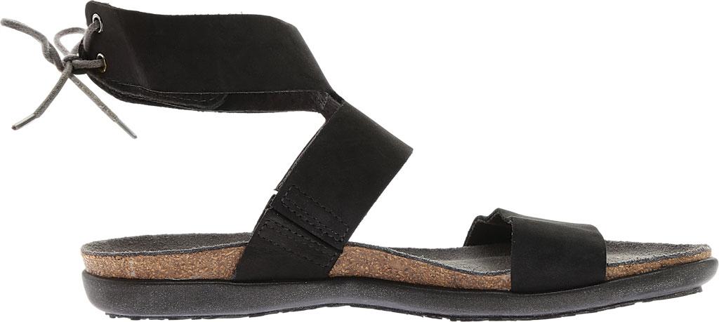 Women's Naot Larissa Ankle Strap Sandal, Black Velvet Nubuck, large, image 2