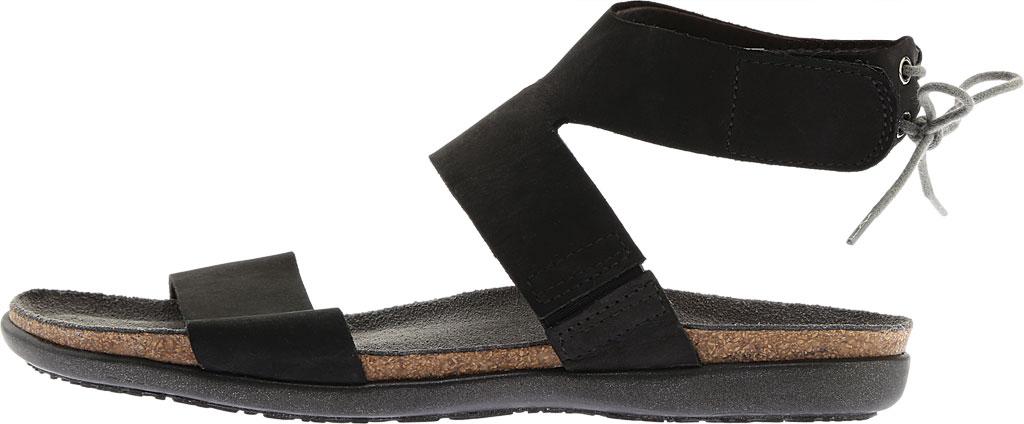 Women's Naot Larissa Ankle Strap Sandal, Black Velvet Nubuck, large, image 3