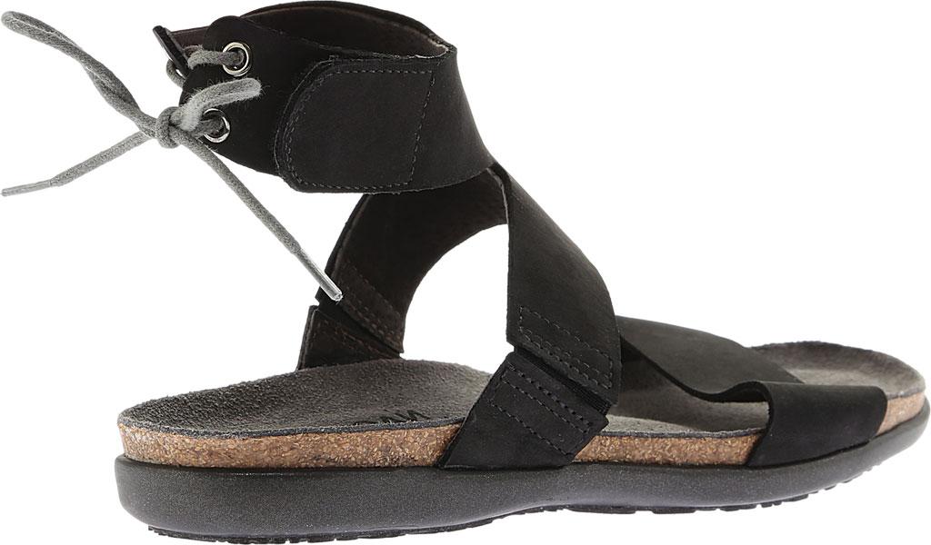 Women's Naot Larissa Ankle Strap Sandal, Black Velvet Nubuck, large, image 4