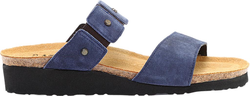 Women's Naot Scarlett Slide Sandal, Midnight Blue Suede, large, image 2