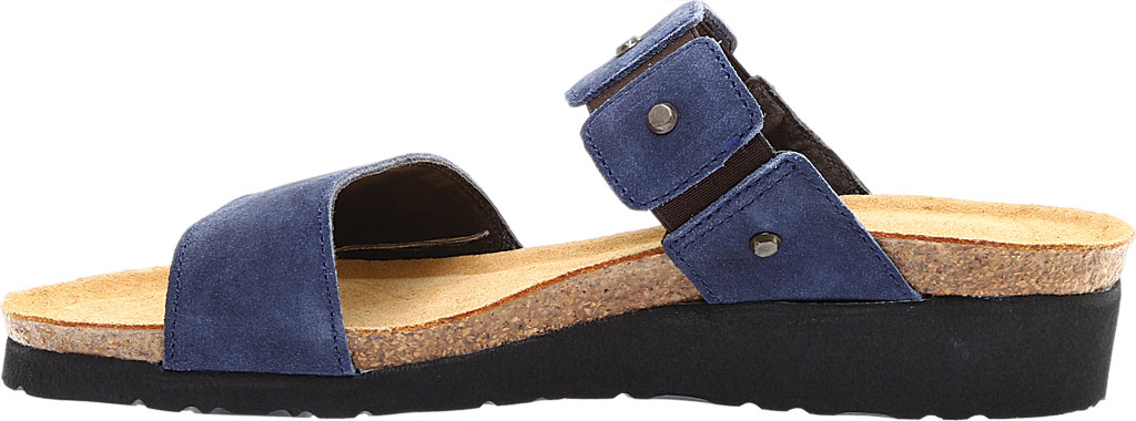 Women's Naot Scarlett Slide Sandal, Midnight Blue Suede, large, image 3