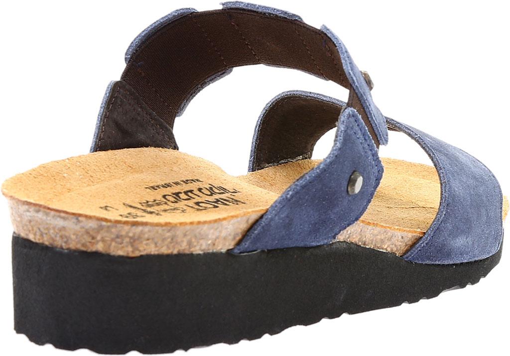 Women's Naot Scarlett Slide Sandal, Midnight Blue Suede, large, image 4