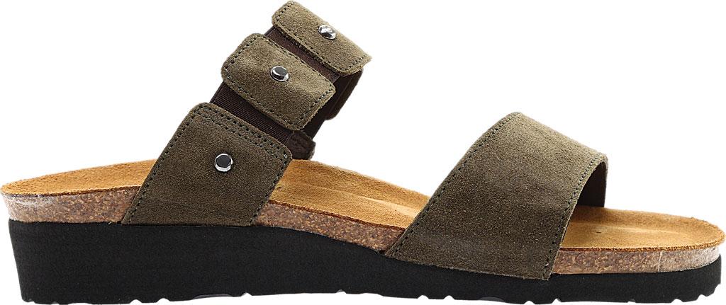 Women's Naot Scarlett Slide Sandal, Oily Olive Suede, large, image 2