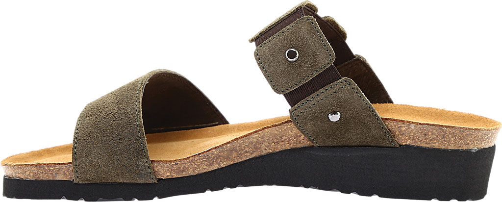 Women's Naot Scarlett Slide Sandal, Oily Olive Suede, large, image 3