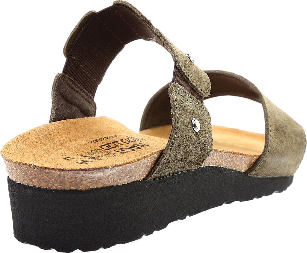 Women's Naot Scarlett Slide Sandal, Oily Olive Suede, large, image 4