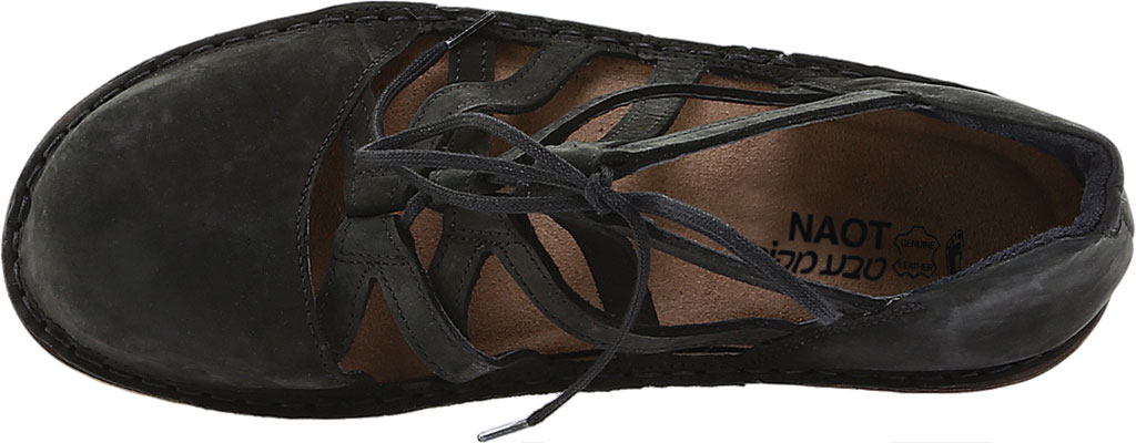 Women's Naot Calathea Wedge, Black Velvet Nubuck, large, image 5