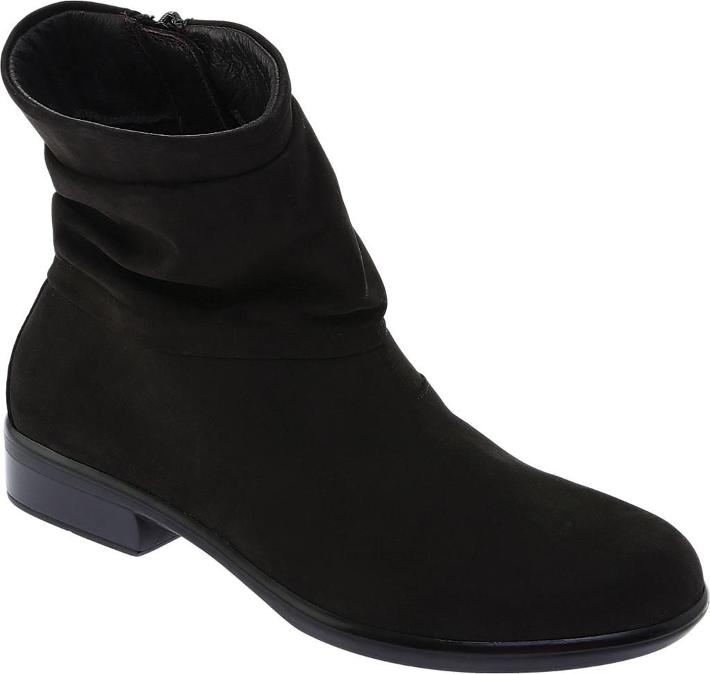 Women's Naot Brisote Bootie, Black Velvet Nubuck, large, image 1