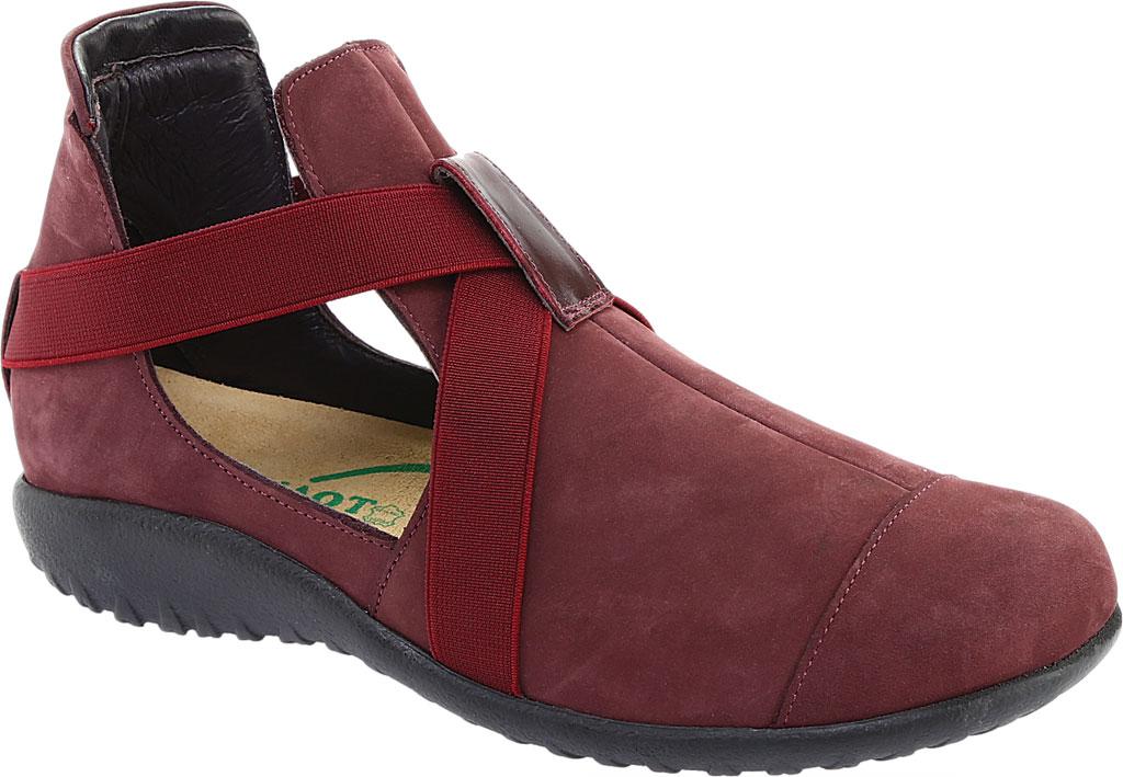 Women's Naot Rakua Bootie, Bourdeaux Leather/Violet Nubuck, large, image 1