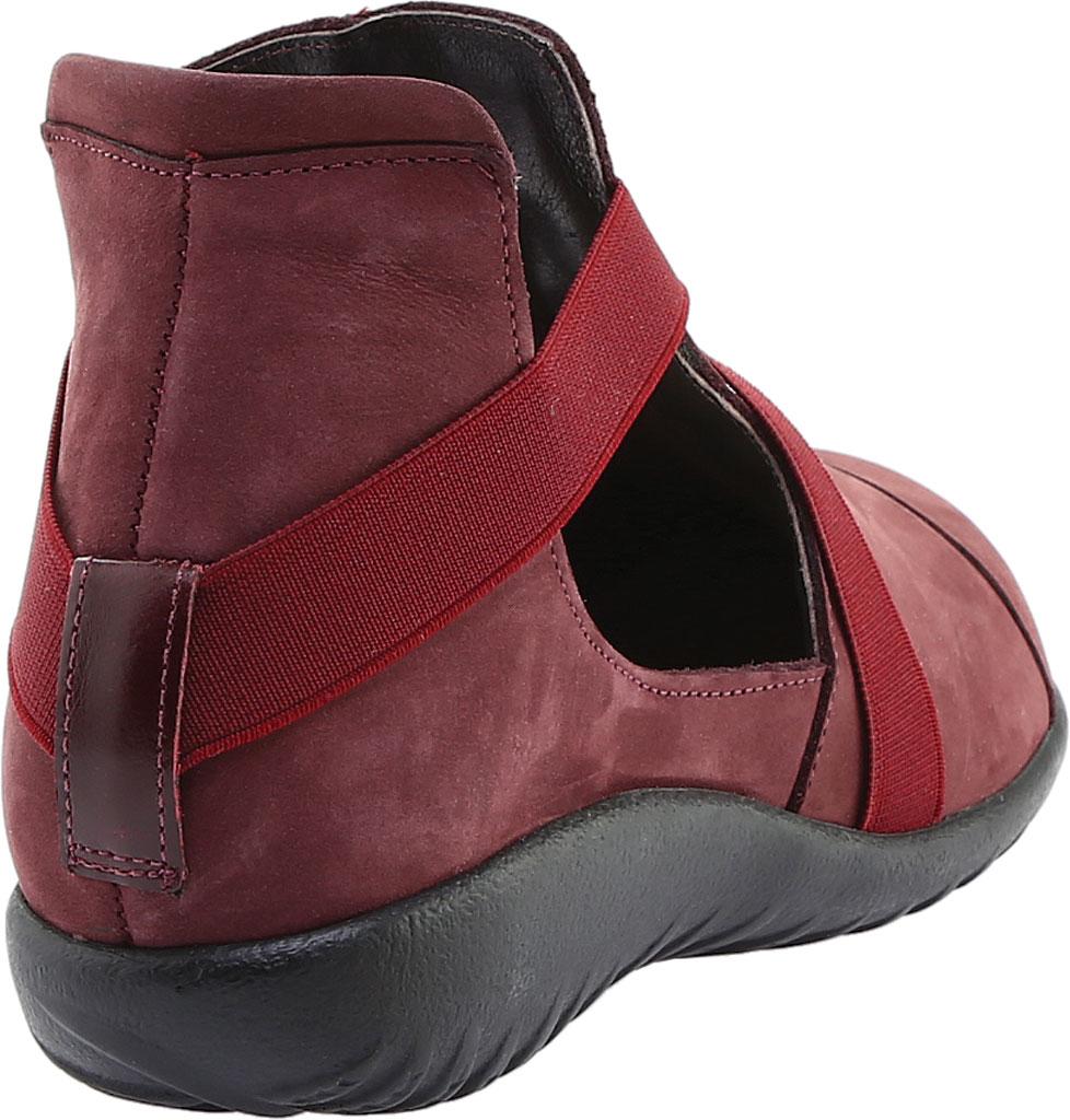 Women's Naot Rakua Bootie, Bourdeaux Leather/Violet Nubuck, large, image 4