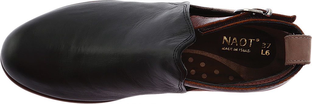 Women's Naot Kamsin Bootie, Jet Black/Stone/Luggage Brown Nubuck, large, image 5