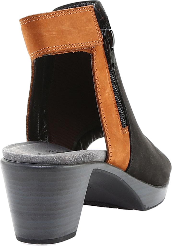 Women's Naot Favorite Peep Toe Bootie, Black Velvet/Hawaiian Brown Nubuck, large, image 4