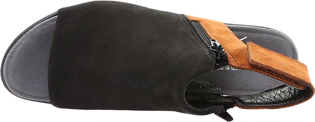 Women's Naot Favorite Peep Toe Bootie, Black Velvet/Hawaiian Brown Nubuck, large, image 5