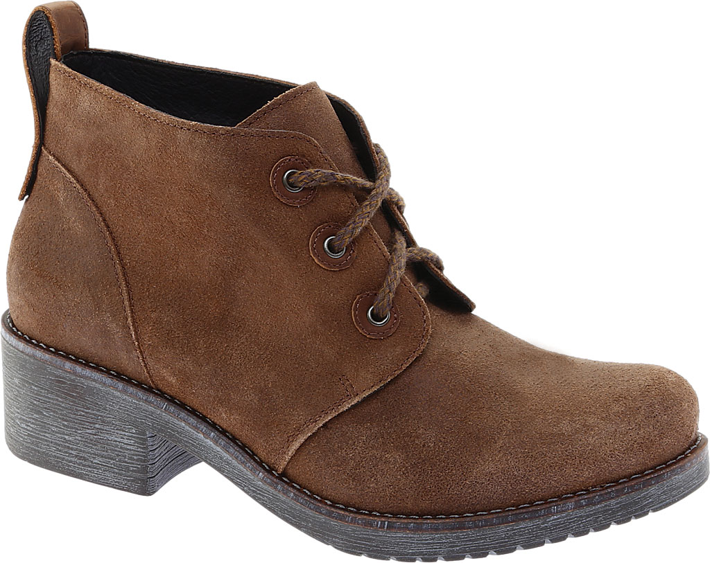 Women's Naot Love Bootie, Antique Brown/Saddle Brown Suede, large, image 1