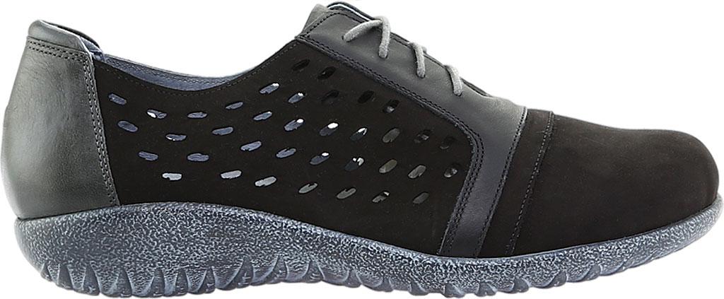 Women's Naot Lalo Sneaker, Black Velvet/Jet Black/Tin Gray Nubuck, large, image 2
