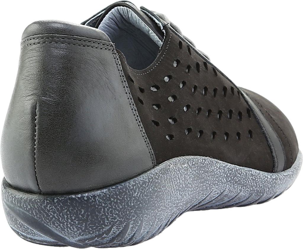 Women's Naot Lalo Sneaker, Black Velvet/Jet Black/Tin Gray Nubuck, large, image 4