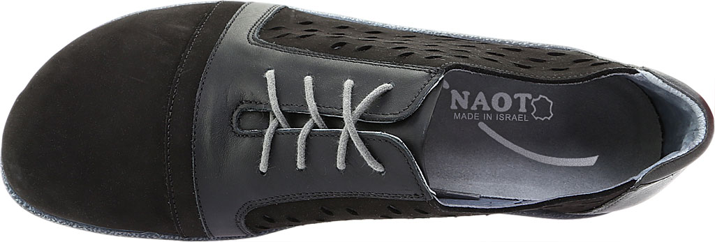 Women's Naot Lalo Sneaker, Black Velvet/Jet Black/Tin Gray Nubuck, large, image 5