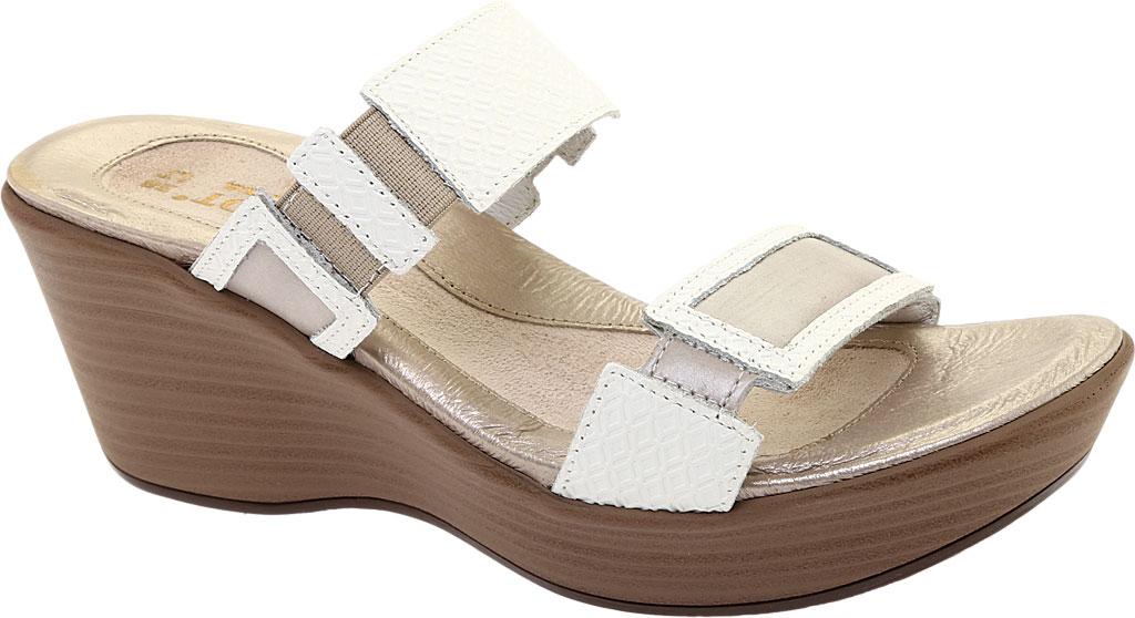 Women's Naot Treasure Wedge Sandal, White Diamond/Quartz Leather, large, image 1