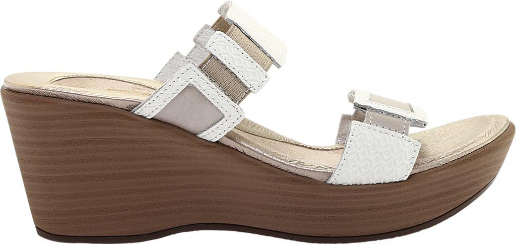 Women's Naot Treasure Wedge Sandal, White Diamond/Quartz Leather, large, image 2