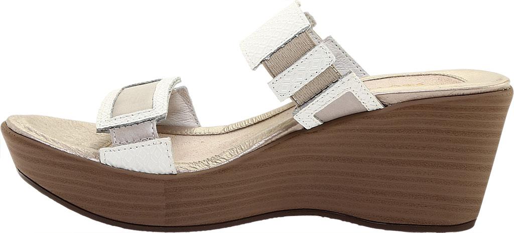 Women's Naot Treasure Wedge Sandal, White Diamond/Quartz Leather, large, image 3