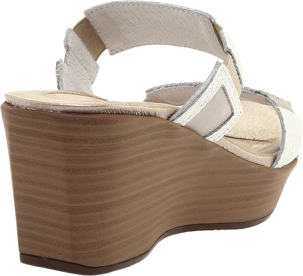 Women's Naot Treasure Wedge Sandal, White Diamond/Quartz Leather, large, image 4