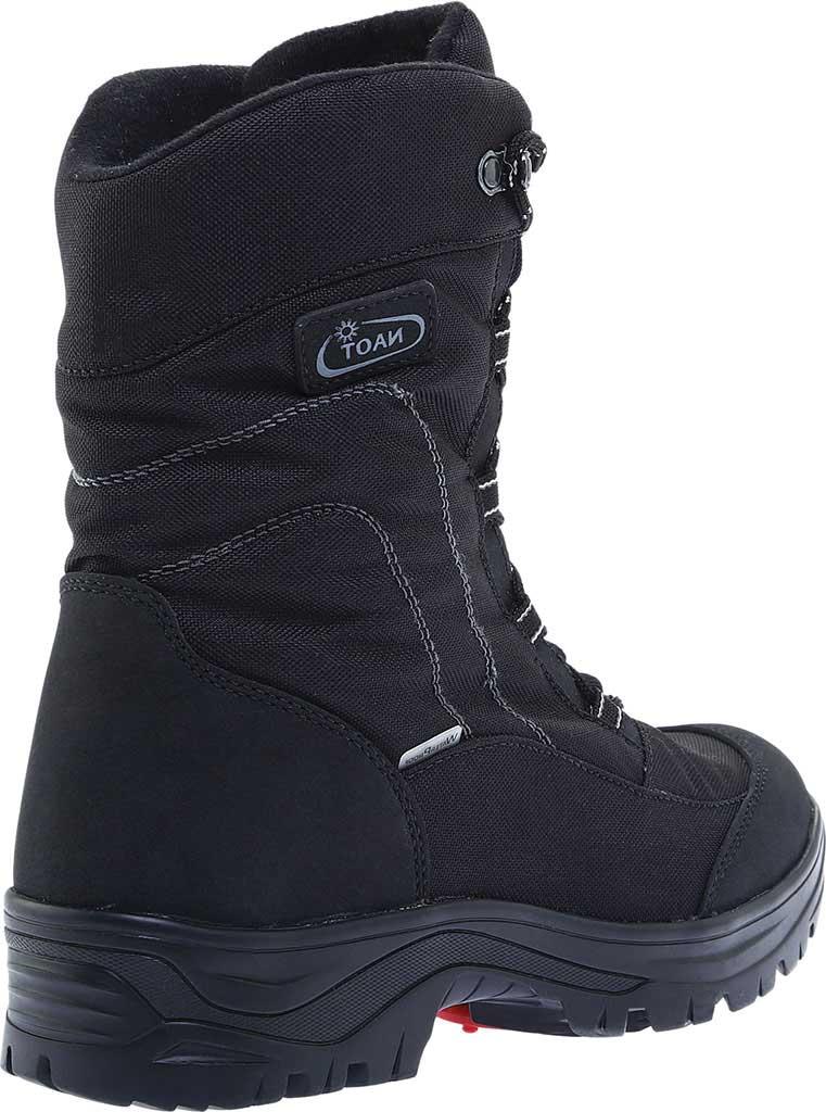 Men's Naot Stratton Snowbird Boot, Black Polyester/Nylon, large, image 4