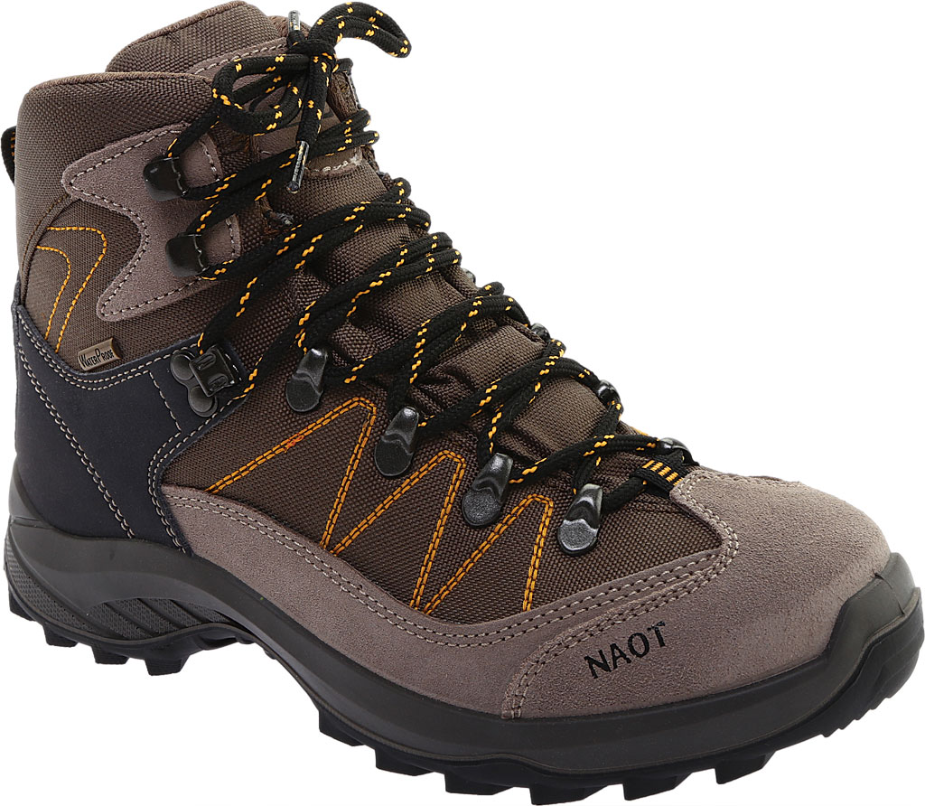 Women's Naot Navigate Odyssey Hiking Boot, Brown/Tan Suede/Polyester, large, image 1