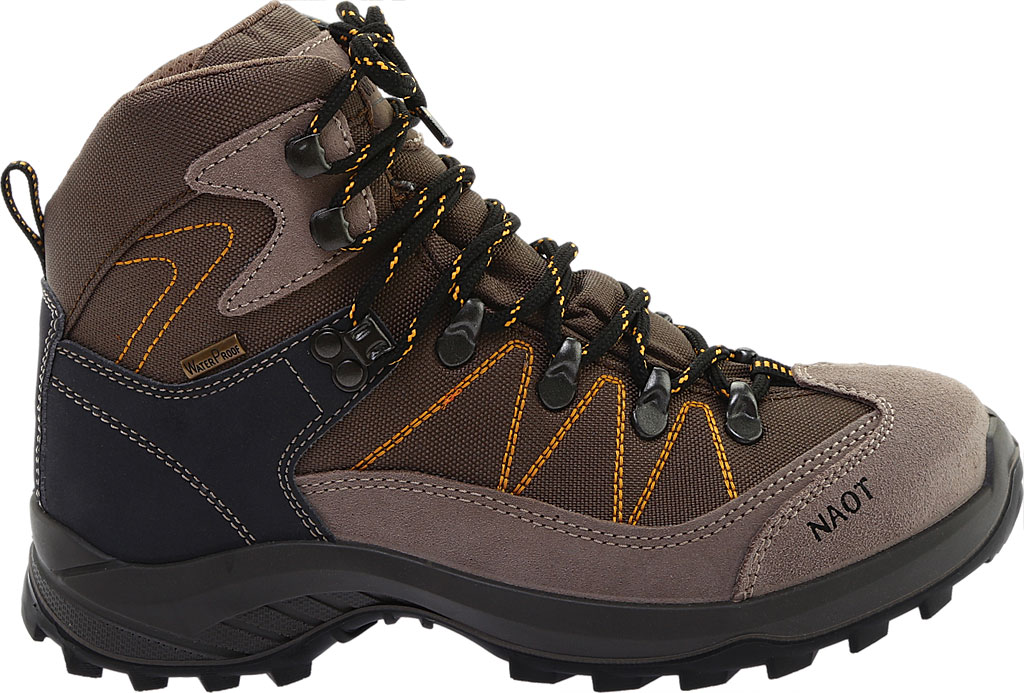 Women's Naot Navigate Odyssey Hiking Boot, Brown/Tan Suede/Polyester, large, image 2