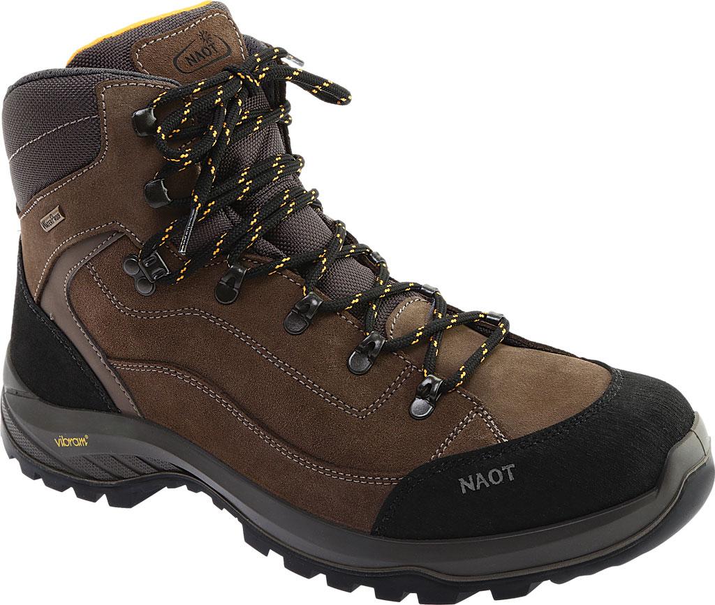 Men's Naot Hiker Odyssey Boot, Black/Tan/Grey Suede/Polyester, large, image 1