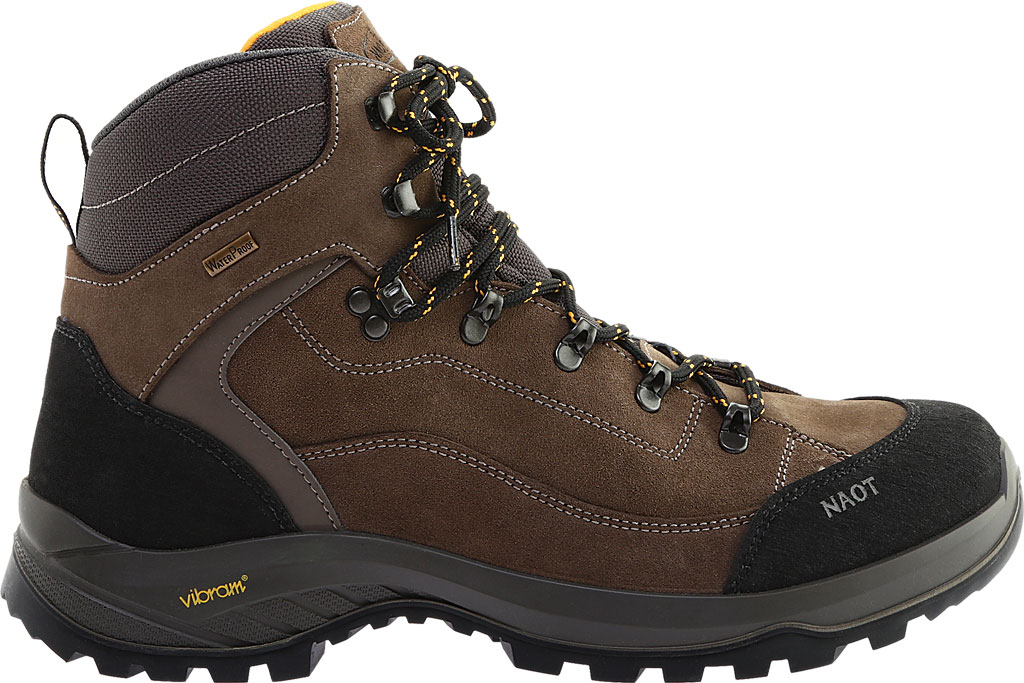 Men's Naot Hiker Odyssey Boot, Black/Tan/Grey Suede/Polyester, large, image 2
