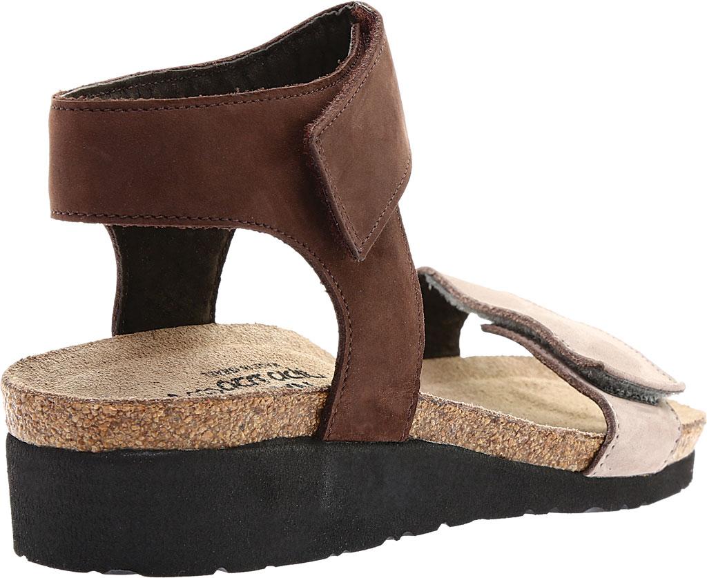 Women's Naot Alba Ankle Strap Wedge Sandal, Stone/Coffee Bean Nubuck Leather, large, image 4