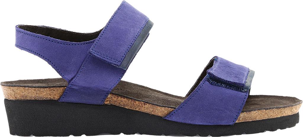 Women's Naot Aisha Ankle Strap Wedge Sandal, Indigo Nubuck Leather/Ink Leather, large, image 2